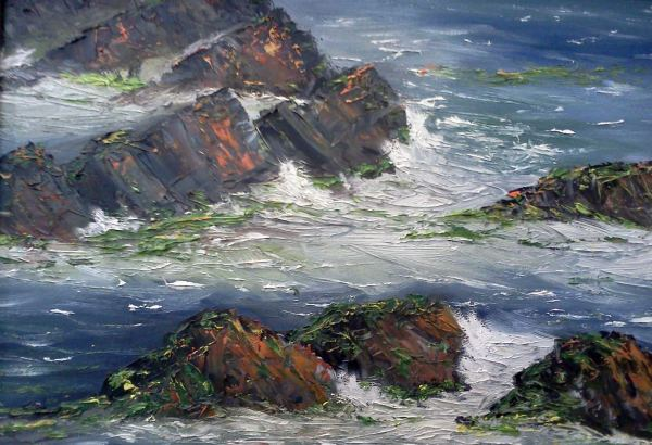 Sea and Rocks by artist Diarmid Doody